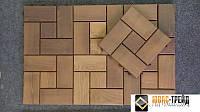 Cадовый паркетиз термомодифицированной древесины, м2