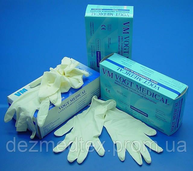 Перчатки латексные смотровые гладкие не стерильные