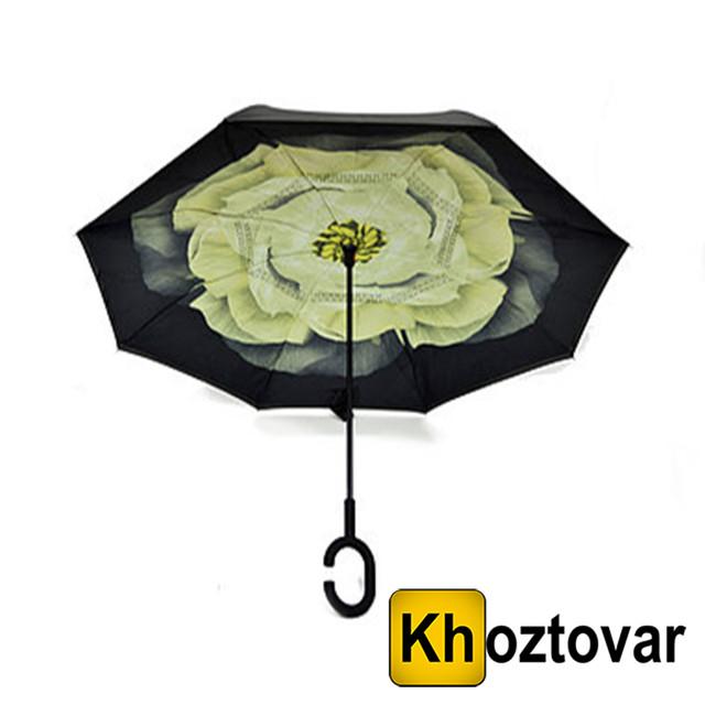 Ветрозащитный зонт Up-Brella Зеленый цветок