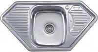 Врезная кухонная мойка Platinum 95*50*18 Satin 0.8 , фото 1