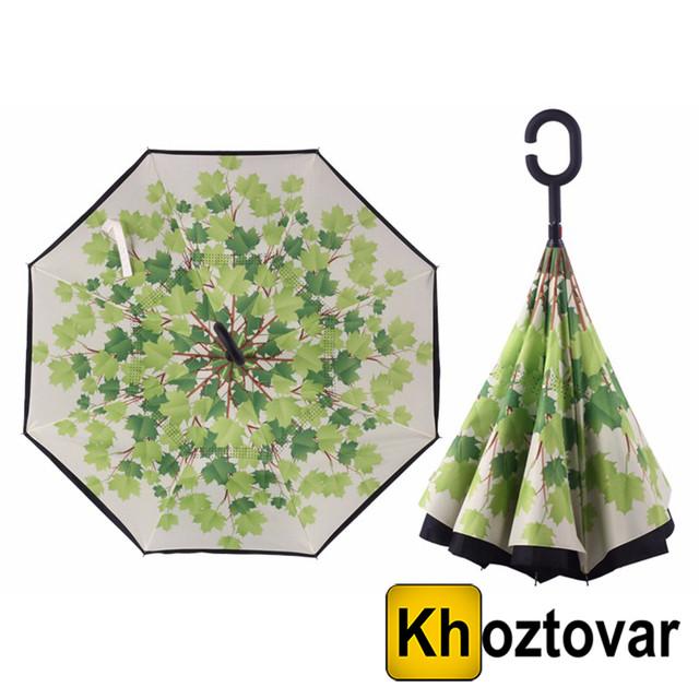 Ветрозащитный зонт Up-Brella Листья