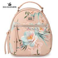 Рюкзак городской женский с цветами DAVID JONES (розовый ), фото 1