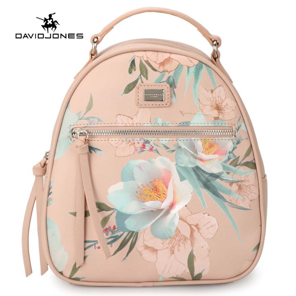 7582f4443b29 Рюкзак городской женский с цветами DAVID JONES (розовый ) -  Интернет-магазин «VINGO