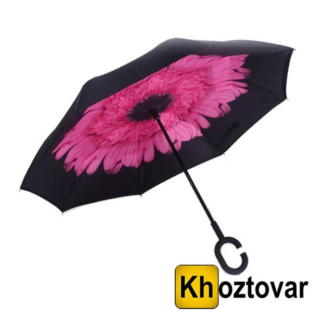 Ветрозащитный зонт Up-Brella Розовый цветок