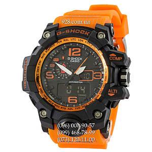 Спортивные мужские часы Casio G-Shock GWG-1000 Black-Orange Wristband (кварцевые)