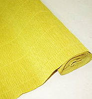 Креп бумага 579 горчичная Cartotecnica rossi, Италия