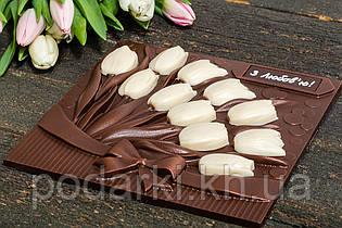 Шоколадная композиция тюльпаны для мамы.