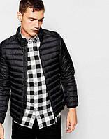 Куртка мужская весенняя, осенняя, демисезонная черная
