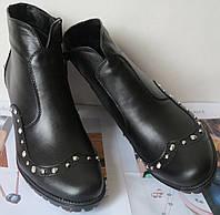 Clarks Арина! Женские ботинки кожа заклепки на удобном каблуке весна осень Кларкс