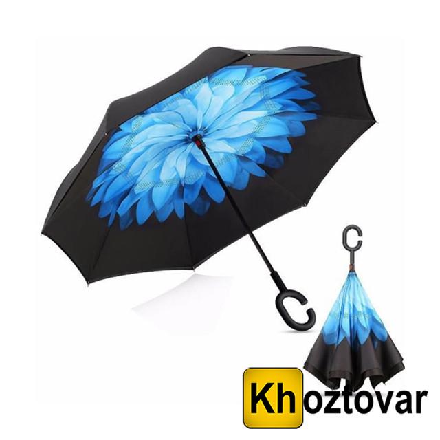 Ветрозащитный зонт Up-Brella Синий цветок