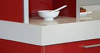 Интерьер кухни с использованием искусственного (кварцевого) камня Caesarstone 3141 Ospray