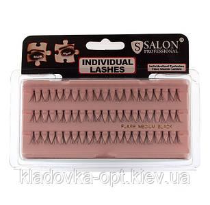Пучковые ресницы Salon professional medium средние черные