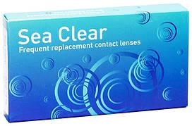 Линзы контактные на 3 месяца Sea Clear 3+1 (в подарок), Gelflex (Австралия), (4 шт)