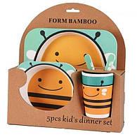 Набор детской посуды из бамбука Bamboo Fibre Kids Set , фото 1