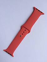Силиконовый ремешок для Apple Watch Sport 42 mm Коралловый.