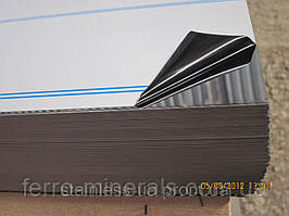Нержавеющий лист 0,4х1000х2000мм,  AISI 304 (08X18H10), ВА+РЕ