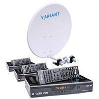 Комплект на 3 спутника для 3-х ТВ Базовый HD Эконом-3
