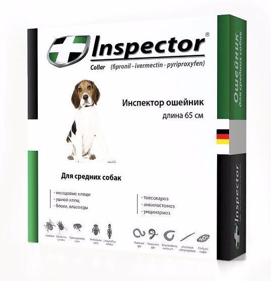 Ошейник ИНСПЕКТОР 65 см INSPECTOR от блох и клещей для средних собак