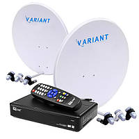 Комплект для сутникового ТВ на 4 спутника «Украина+Россия» SD-1025