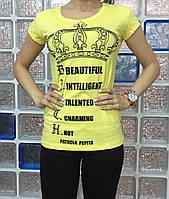 Летняя женская турецкая футболка с короной, фото 1