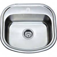 Врезная кухонная мойка Platinum 49*47*18 Satin 0.8 , фото 1
