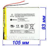 Мощный универсальный аккумулятор 5675мАч 4493105 мм 3,7в для планшетов Bravis, Nomi, ImPAD, Prestigio 5675mAh, фото 1