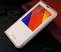 Золотиста чохол-книжка з одним віконцем для Meizu MX5, фото 1