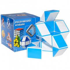 Змейка рубика  бело-голубая в коробке Smart Cube SCT401s