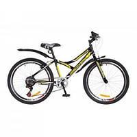 "Велосипед Discovery 24\"" FLINT 2018 14G Vbr рама-14\"" St черно-желтый (OPS-DIS-24-086)"