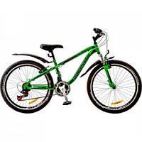 "Велосипед Discovery 24\"" FLINT 2018 AM 14G DD рама-13\"" St зелено-черный (OPS-DIS-24-079)"