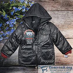 Куртки с капюшоном для мальчика Турция Размеры:98,104,110,116 см (6198-2)