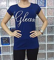 Летняя женская турецкая футболка с оригинальным рисунком на спине, фото 1