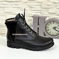 Ботинки мужские на шнуровке, натуральная кожа и замша.