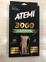 Ракетка для настольного тенниса Atemi 3000 ECO-Line профессиональная, класса 5*.