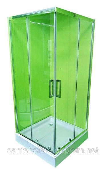 Душевая кабина VERONIS KNS-90 прозрачное стекло 90х90х195 (ИТАЛИЯ)