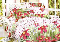 Комплект постельного Красные цветы 1,5 (полуторный)