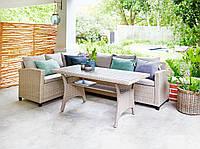 Комплект садовой мебели плетеной мебели угловой (на 6 персон)
