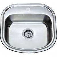 Врезная кухонная мойка Platinum 49*47*18 Micro-Decor 0.8 , фото 1