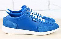 Кроссовки кожаные Lacoste синие
