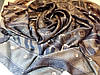 Платок Louis Vuitton шелк коричневый монограмм, фото 5