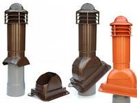 Вентиляционный выход 110 мм под металлочерепицу Монтерей, коричневый цвет