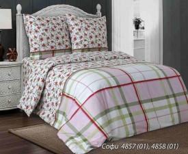 Комплект постельного белья евро  СОФИ (навол.50*70)