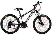 Детский велосипед Cross Hunter 24 Black-White-Red