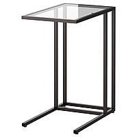 IKEA VITTSJO Стол для ноутбука, черно-коричневый, стекло  (002.502.49)