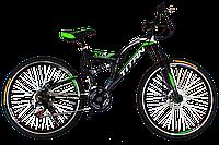 """Горный велосипед Titan Panther 26"""" Black-Green-White"""