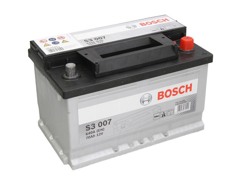 Аккумулятор Bosch S3 70Ah EN640A R+ (S3007)