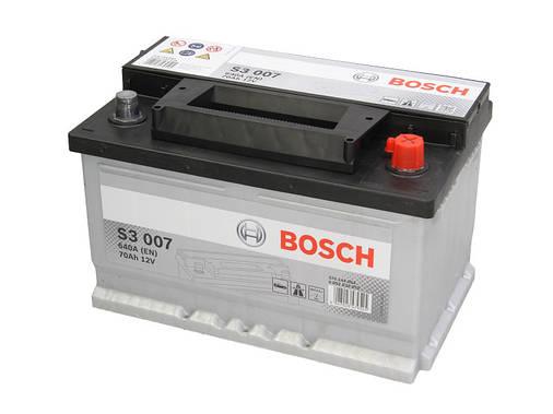 Аккумулятор Bosch S3 70Ah EN640A R+ (S3007), фото 2