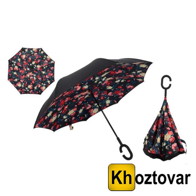Ветрозащитный зонт Up-Brella Розы