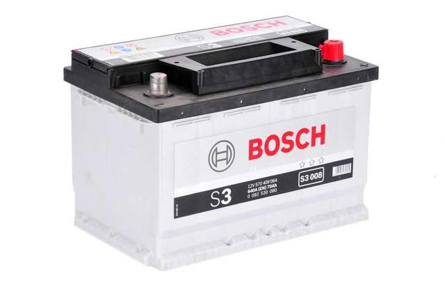 Аккумулятор Bosch S3 70Ah EN640A R+ (S3008)