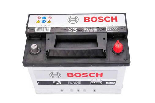 Аккумулятор Bosch S3 70Ah EN640A R+ (S3008), фото 2